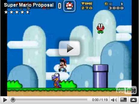 درخواست ازدواج خلاقانه با استفاده از بازی ماریو (+فیلم)